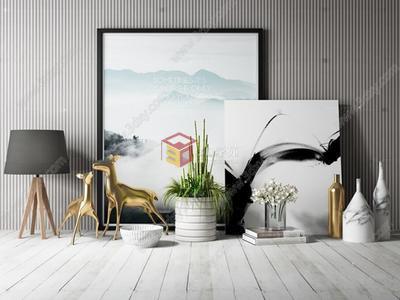 北欧装饰品3d模型图片