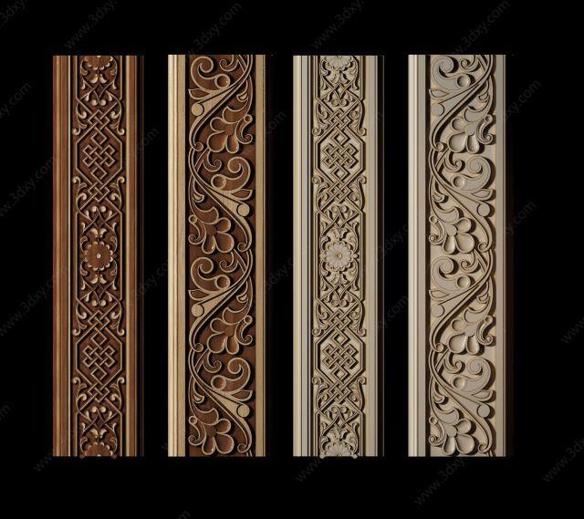 新中式雕花装饰线