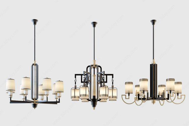 新中式吊灯水晶灯多头灯