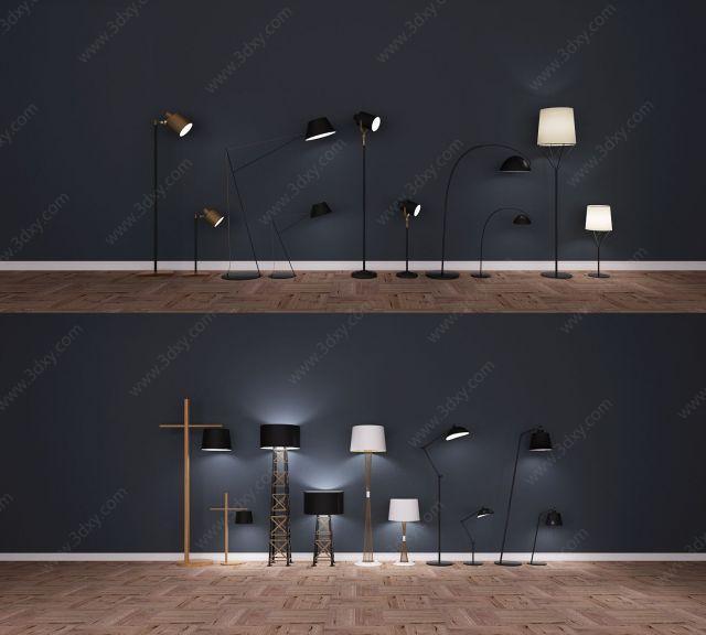 现代北欧新中式落地灯