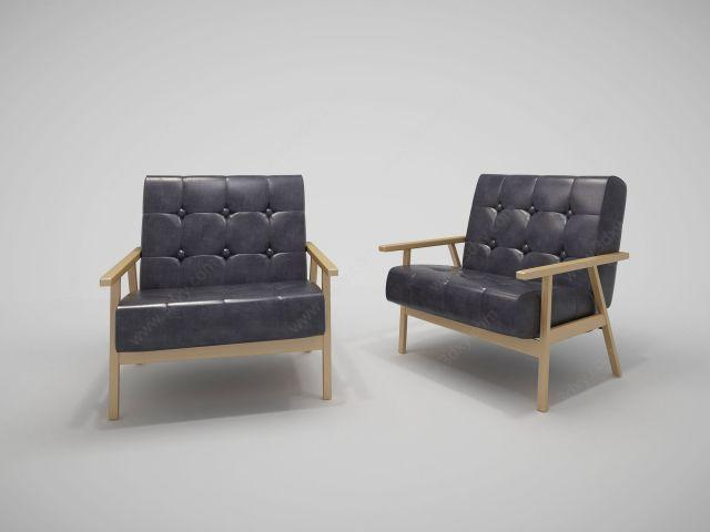 北欧单人沙发