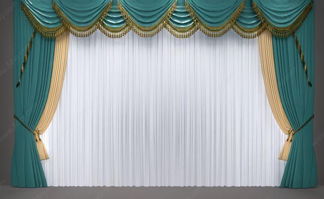 歐式簡歐窗簾