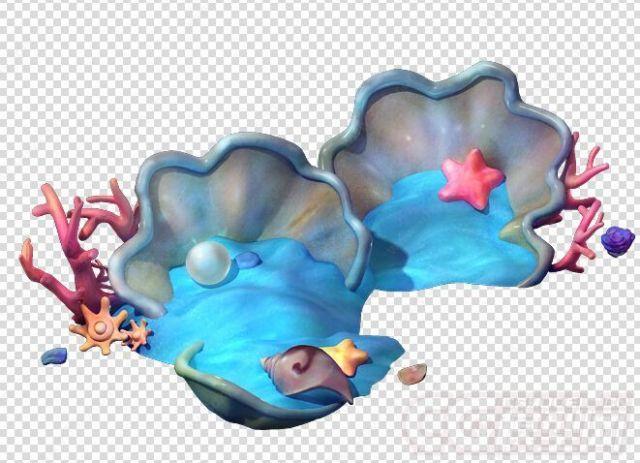 海螺贝壳海景