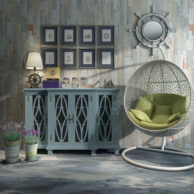 餐边柜吊椅台灯装饰墙