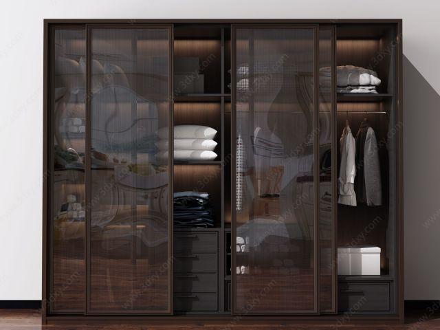 现代北欧衣柜装饰柜