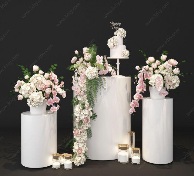 婚慶婚禮花藝展廳展示美陳