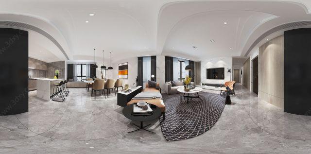 现代客餐厅空间