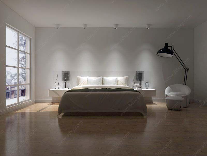 极简简约卧室