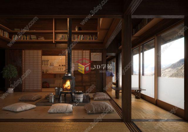 日式風格茶室廚房