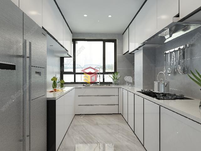 现代简约风格客厅厨房卧室