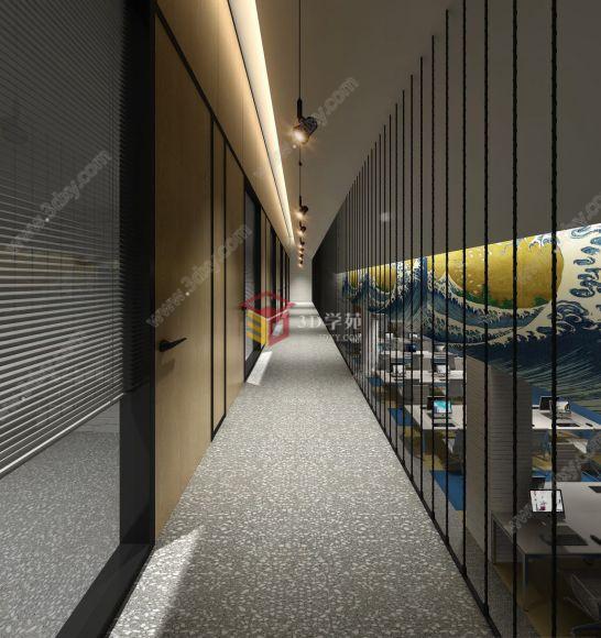 工业风格厂房风格办公室整体模型详情
