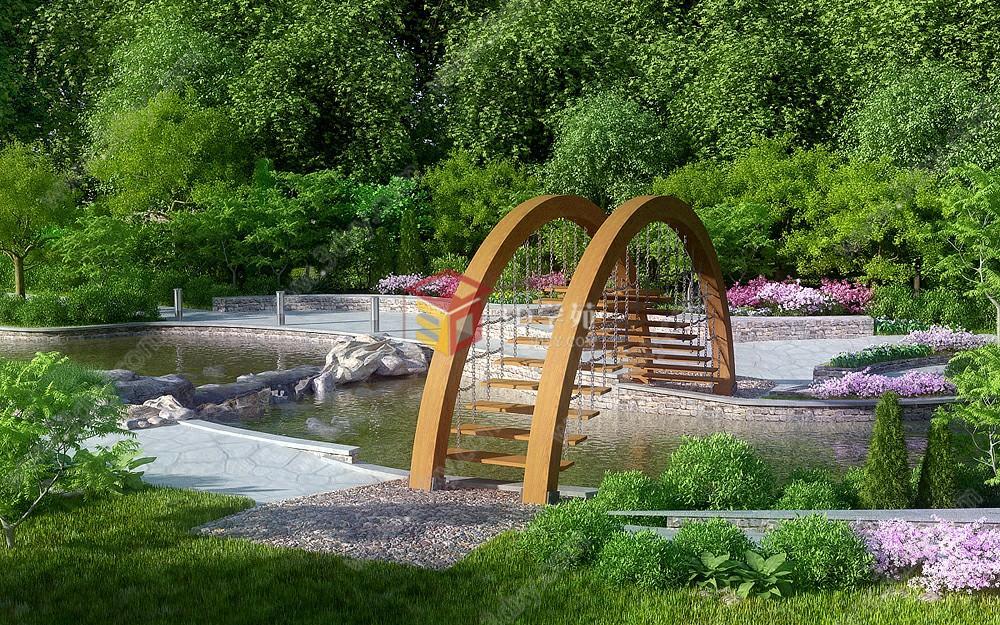 園林別墅公園小院子景