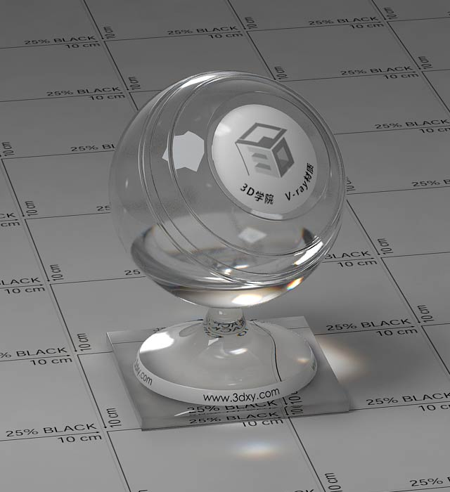 透明玻璃vray材质[id100006]
