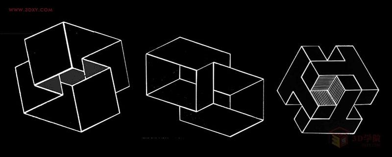 事物表象包含二次元,三次元,正,负的可视空间,也就是点线面体的空间形