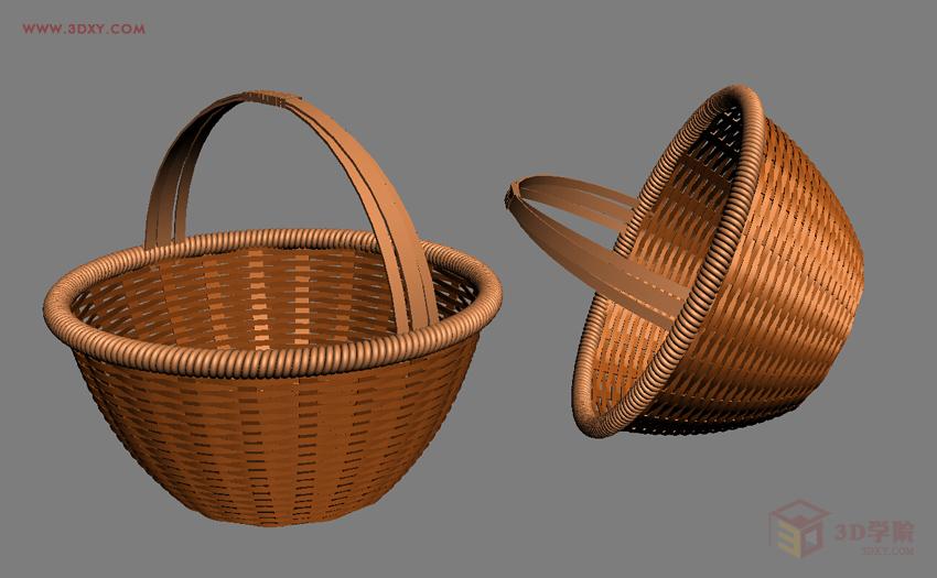 【建模技巧】篮子的建模方法