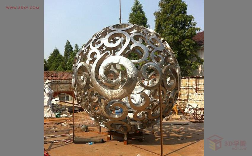 【建模技巧】镂空球体雕塑建模方法