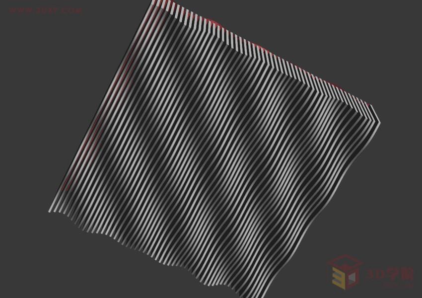 【建模技巧】波浪形屋顶