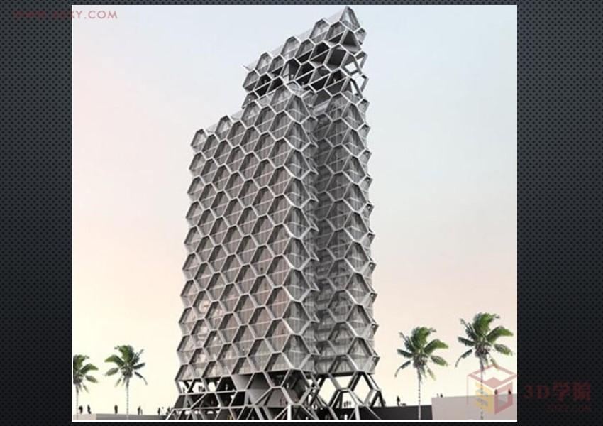 【建模技巧】3Dmax中利用网格平滑、细分制作异形建筑