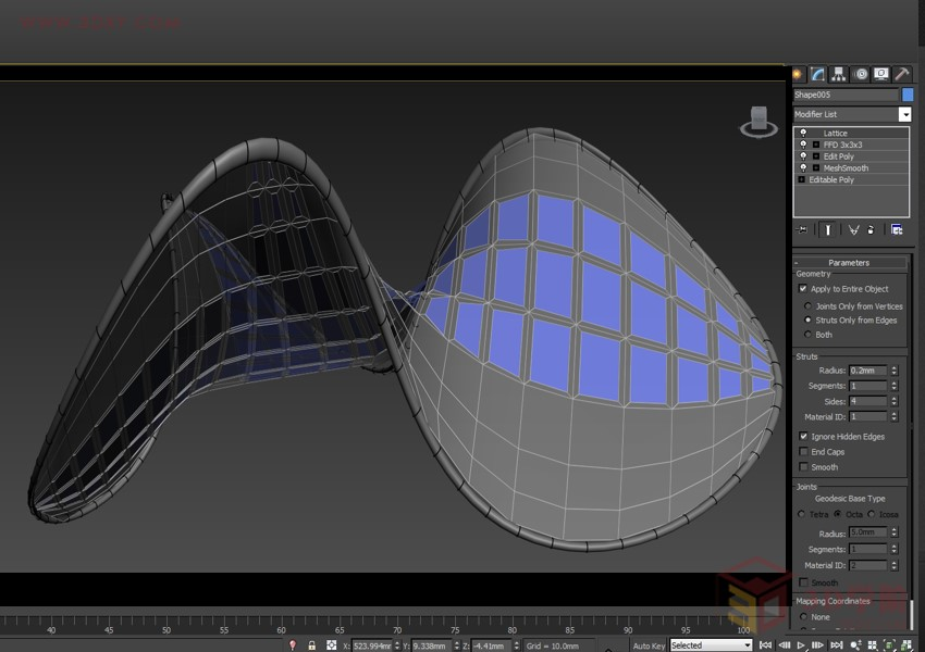 【建模技巧】教你用3ds Max打造异形伞状结构--太阳能充电伞