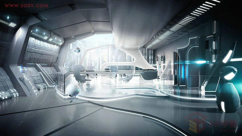 【空间灵感】超现代的科幻未来感空间效果图欣赏 第3页3dmax教程