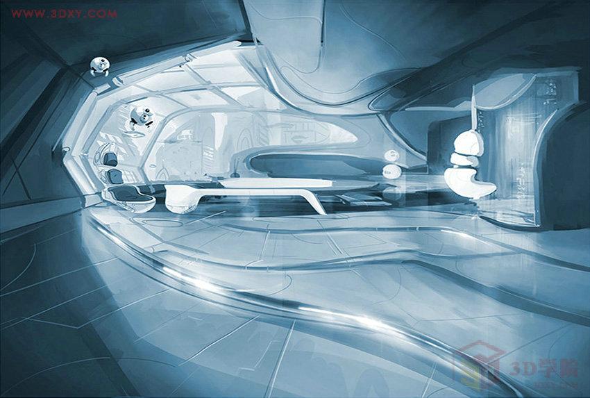 【空间灵感】超现代的科幻未来感空间效果图欣赏