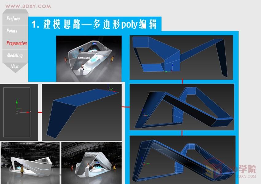 【建模技巧】实用展览设计3ds Max多边形Poly建模方法