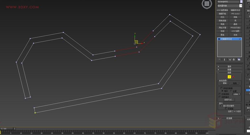 【建模技巧】3dmax 展厅外框一体化建模