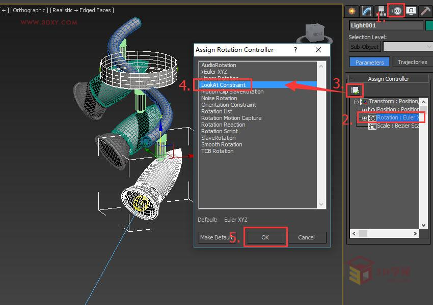 【脚本插件】3Ds max 使用注视控制器绑定灯光
