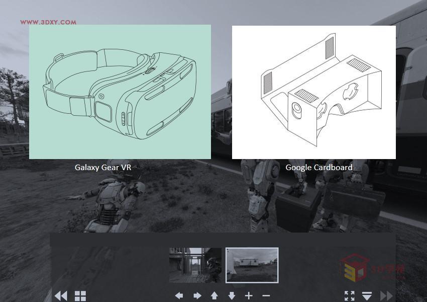 【V-Ray技巧】利用3ds max为VR设备制作立体交互图像