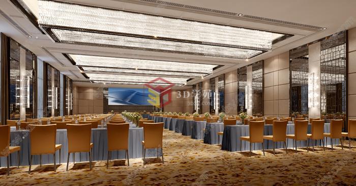 现代大型会议室