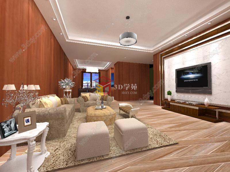 现代客厅整体