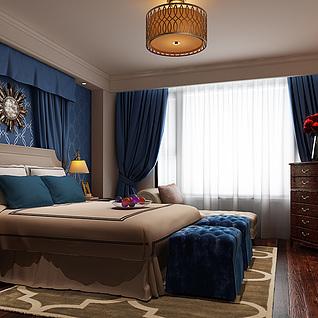 精装室内卧室3d模型