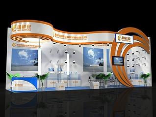 国祥安防展厅展览模型