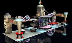 魔比斯环数码科技展厅展览模型
