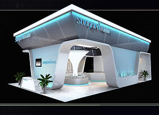 桑耐丽卫浴展厅展览模型