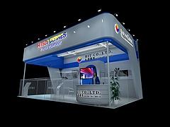 弘益泰克电子展厅展览模型