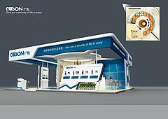广松电子展台展览模型