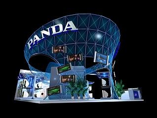 熊猫电子展厅展览模型