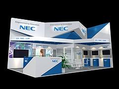 NEC安防展台展览模型