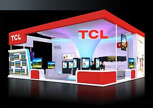 TCL家電展臺展覽模型