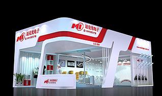 深圳迈克光照明展台展览模型