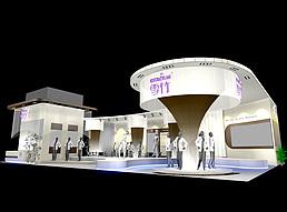 雪竹服装展台展览模型