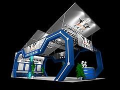 波鹰机械机械展台展览模型