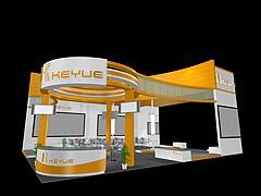科跃机械展台展览模型