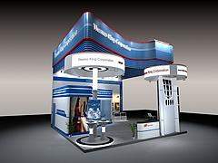 THEMO KING机械展厅展览模型