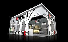 ZHEYU服裝面料展臺展覽模型