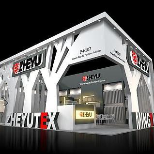ZHEYU服装面料展台展览模型