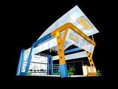 HuxinC 五金展台展览模型