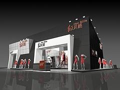红贝缇服装展厅展览模型