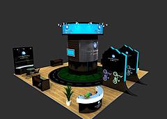 踏驰运动装备展厅展览模型